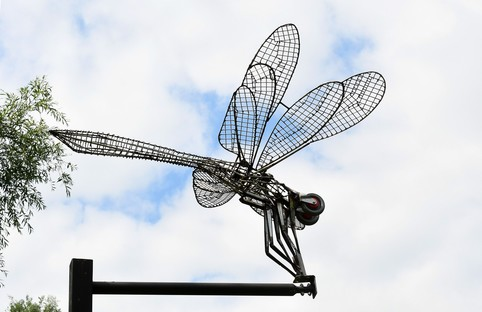 Gyosei Art Trail Dragonfly sculpture